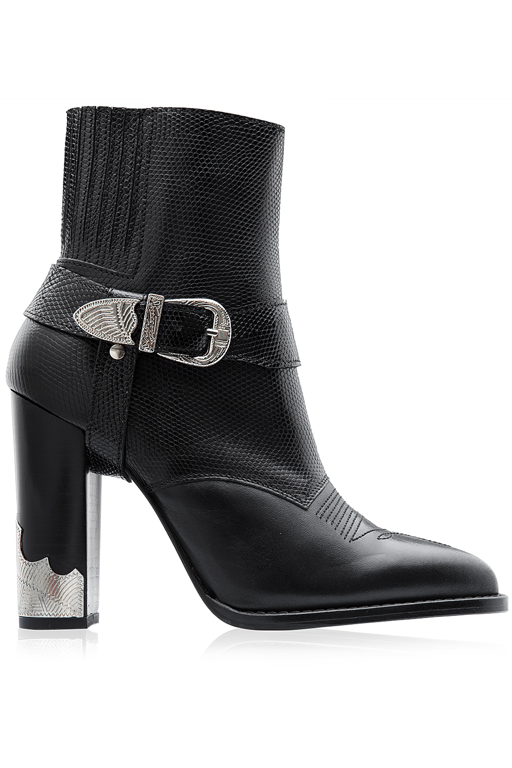 Toga Pulla Buckle Detail High Heel Boots Black 365ist