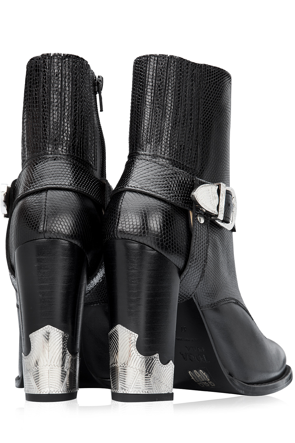 Best Sale Sale Online TOGA PULLA Heeled Cut-Out Boots New Arrival Fashion Sale Shopping Online With Mastercard Cheap Online Free Shipping Enjoy vCiM8OG6