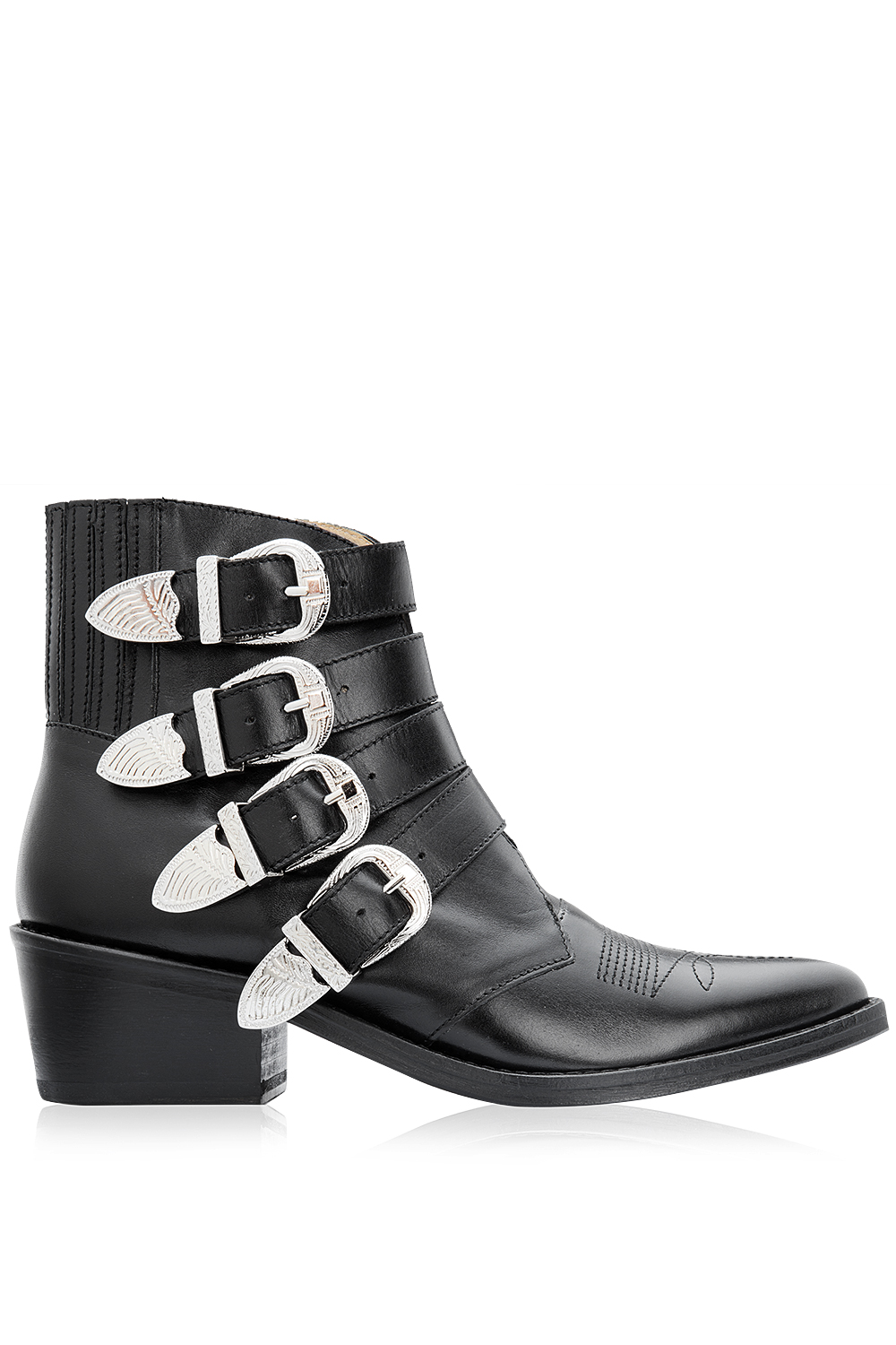 Toga Pulla Multi Buckle Ankle Boots Black 365ist