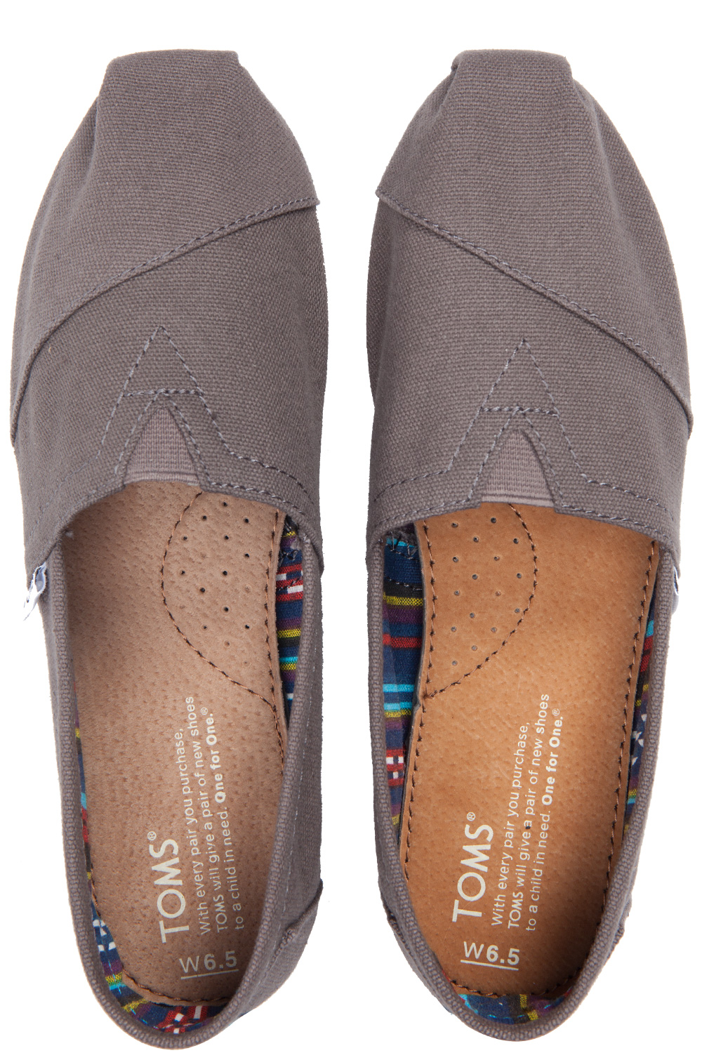 34f32587 Toms Ash Canvas Classic Womens Slip-On Grey | 365ist