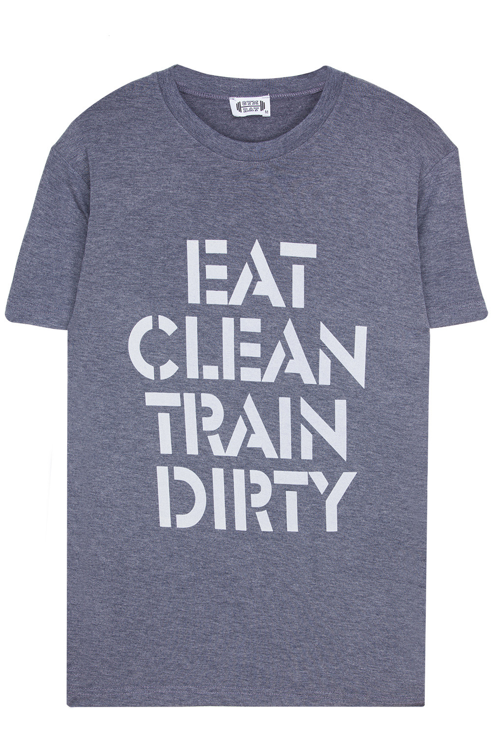 Eat Clean Train Dirty Yuvarlak Yaka Tişört