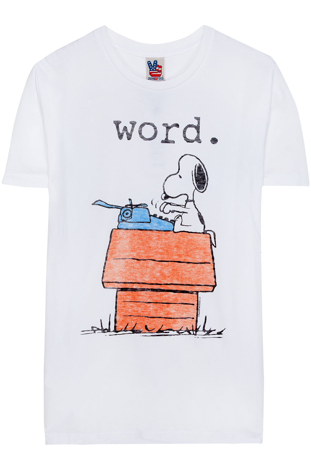 Junk Food Snoopy Word T-Shirt White | 365ist
