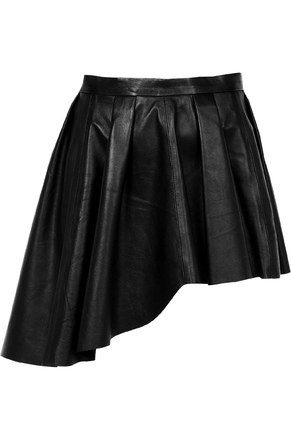 selma 199 ilek asymmetric leather skirt black 365ist