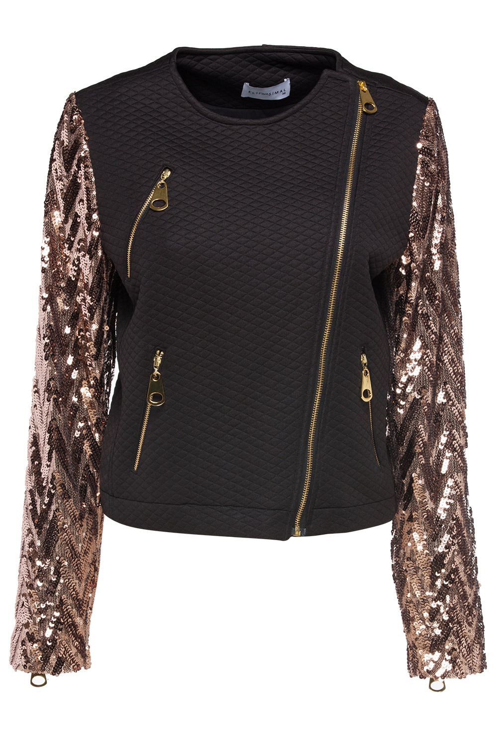 Sequin Jacket. There are many occasions where a sequin jacket is the perfect choice. Sparkling women's apparel draws the eye, effortlessly capturing the attention of onlookers on the street, at the office, or in the club.