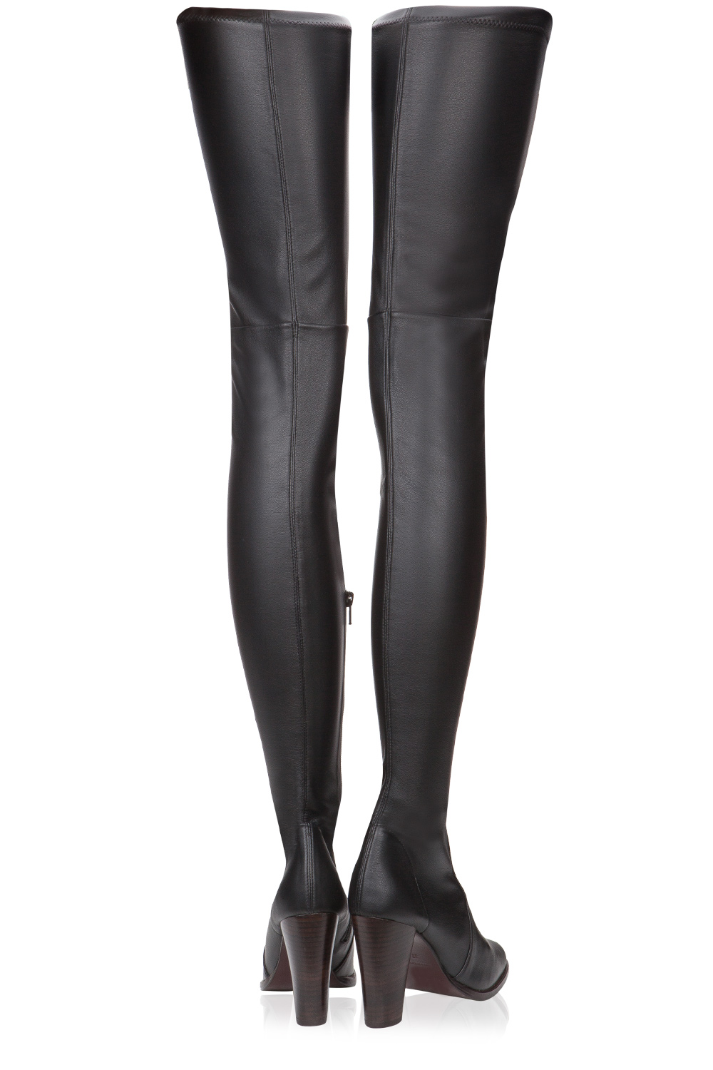Preen Hyde Stretch Leather Over The Knee Boots Black | 365ist