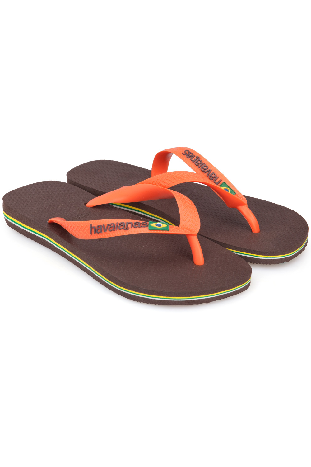 4cec7e8a702d Havaianas Brasil Dark Brown   Orange Flip Flops Koyu Kahverengi ...
