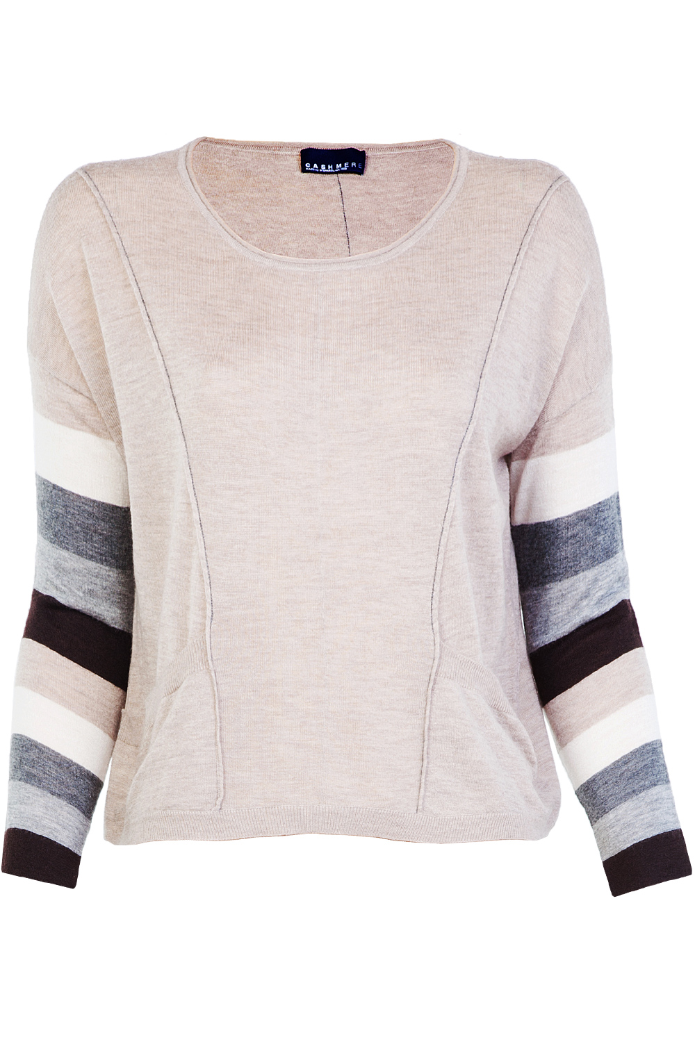 Stefanel Cashmere Sweater with Pockets Beige | 365ist