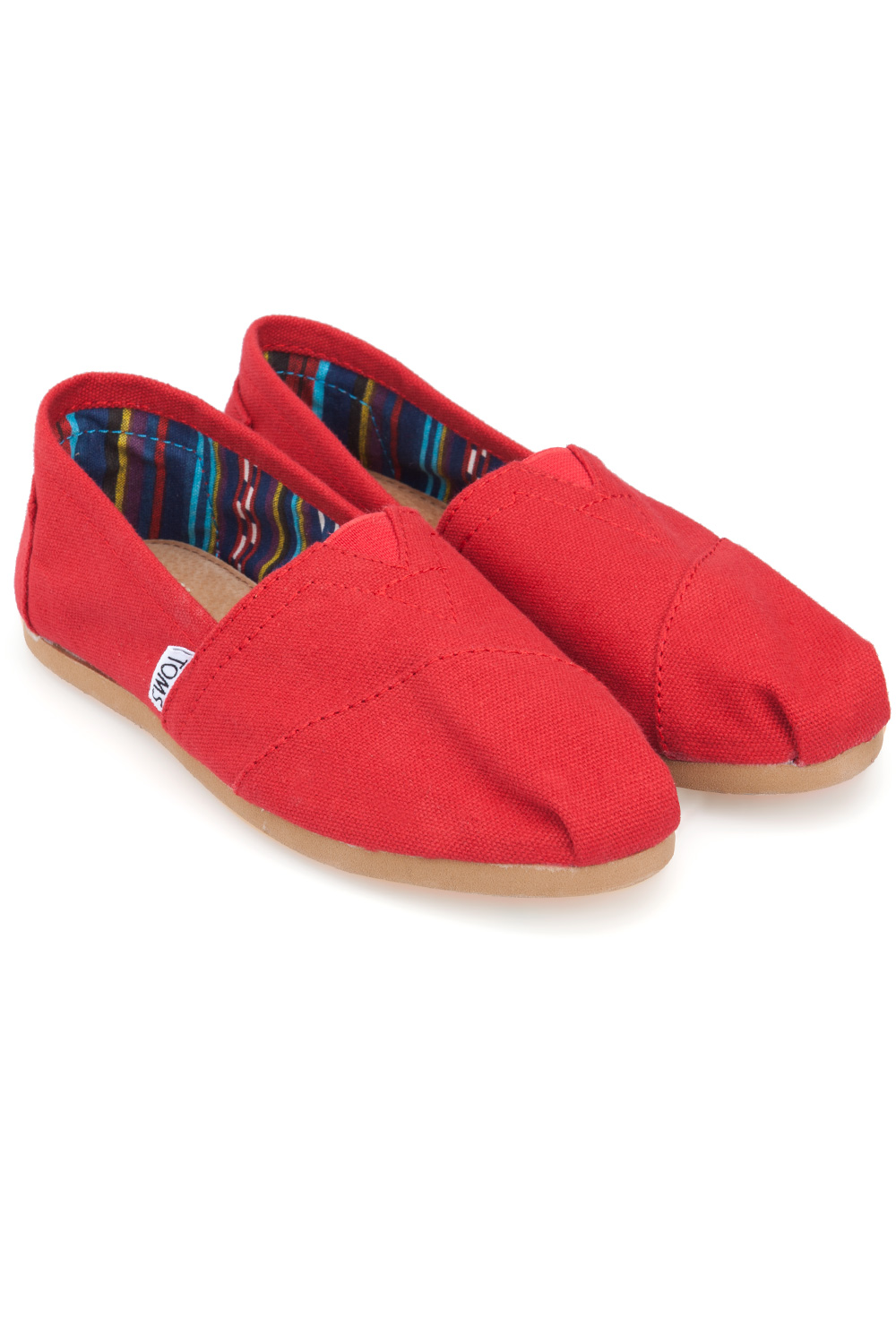 ... toms-red-canvas-classic-womens-slip-on-red ... a5daf65bf8c4