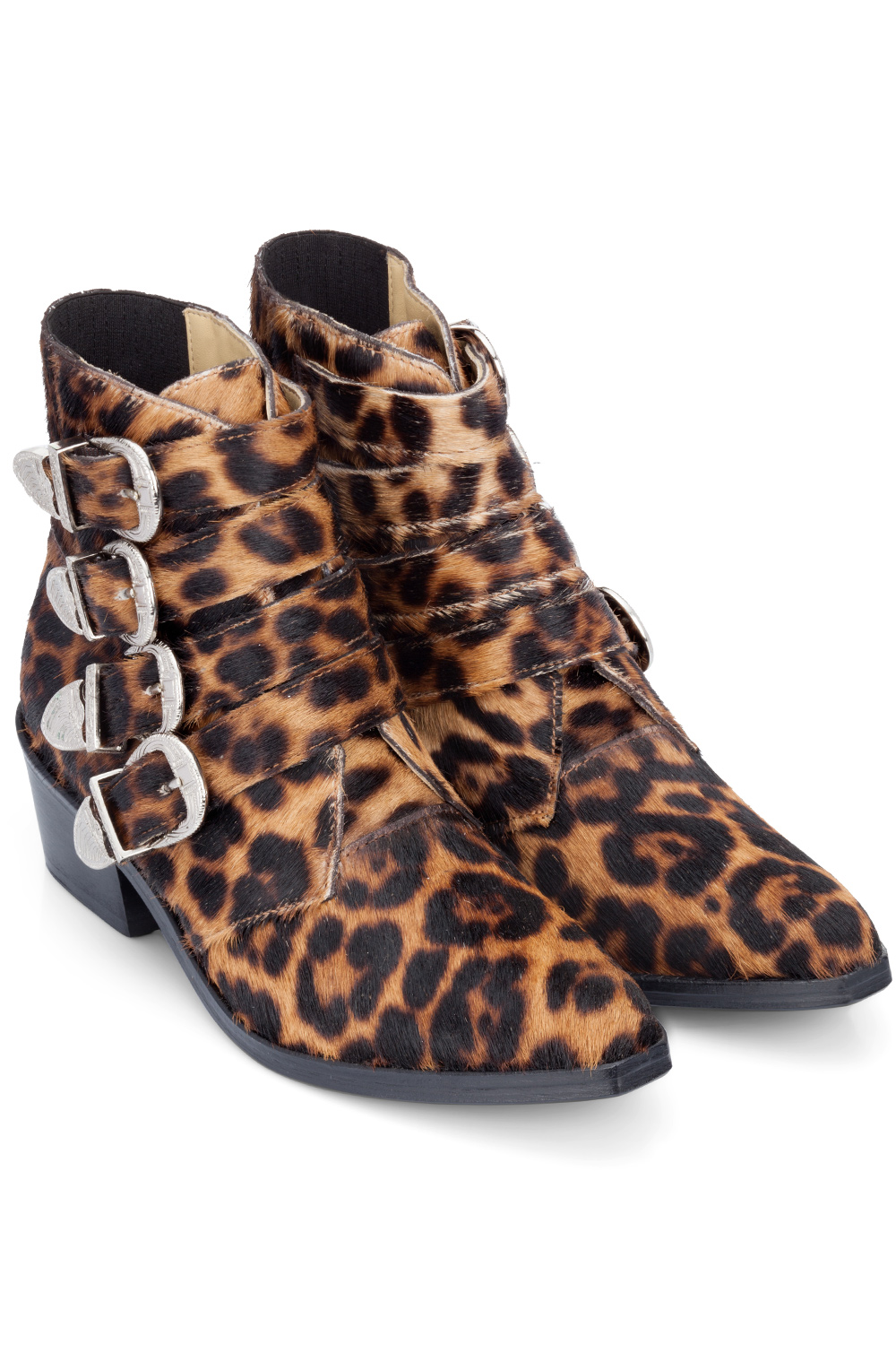 Leopard Print Shoes With Red