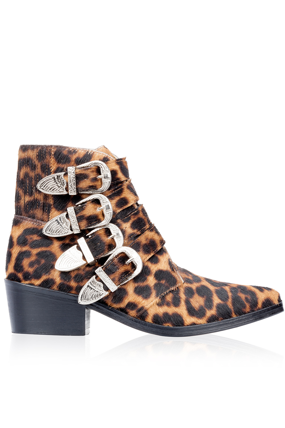 Toga Pulla Leopard Print Boots Multicolor 365ist