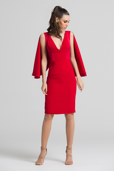 ozlem-suer-one-color-dress-red