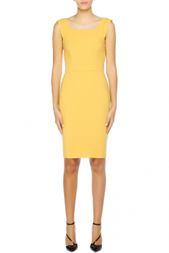 french-connection-feather-light-structured-dress-yellow