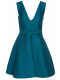 halston-heritage-ss-v-neck-fit-flare-dress-petrol-blue