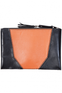 lou-design-studio-duo-colored-clutch-kahverengi-turuncu