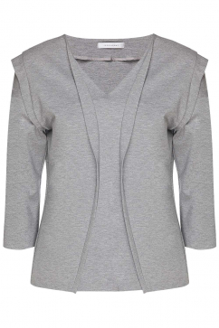 ipek-arnas-grey-pleated-blouse-gri-melanj