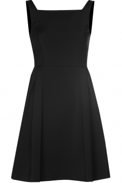 french-connection-pleat-detail-dress-black