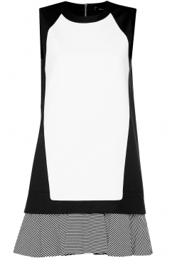 robert-rodriguez-stripe-flounce-sheath-dress-white