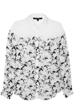 french-connection-hatched-horses-classic-shirt-white