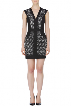 french-connection-printed-dress-black