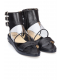 toga-pulla-triple-buckle-sheer-detail-sandals-black