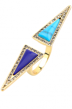 house-of-harlow-1960-isosceles-reflection-ring-lacivert-turkuaz-altin