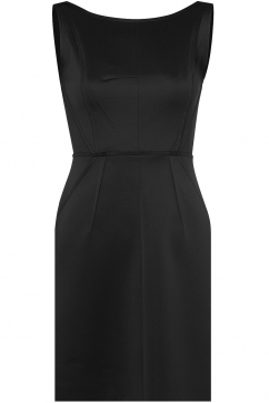 milly-seamed-detail-shift-dress-black