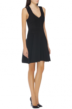 milly-strappy-ottoman-stretch-dress-black