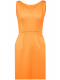 milly-seamed-detail-shift-dress-neon-turuncu