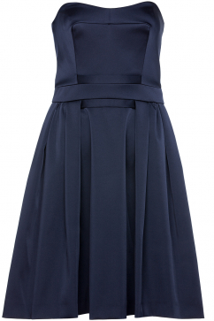 french-connection-techno-princess-strapless-dress-navy
