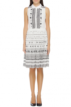 french-connection-trapezium-dress-white