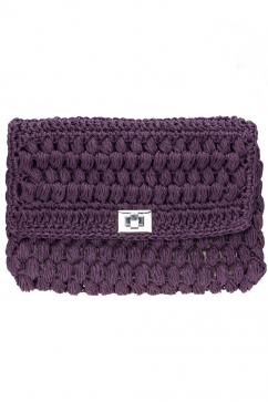trenza-hand-knit-clutch-purple