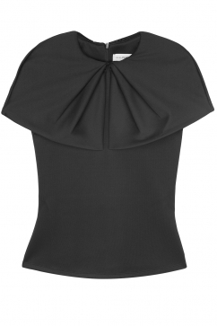amaya-arzuaga-collar-detail-blouse-black
