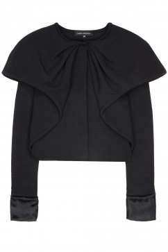 amaya-arzuaga-collar-detail-cardigan-black
