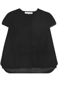 amaya-arzuaga-frill-back-detail-cardigan-black
