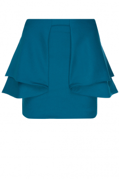 amaya-arzuaga-layered-skirt-petrol-blue