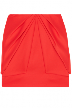 amaya-arzuaga-layered-skirt-red