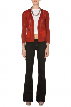 nicolas-and-mark-leather-pocket-net-cardigan-red