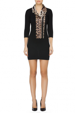 just-cavalli-animal-print-detail-biker-dress-black