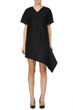 just-cavalli-asymmetric-detail-mini-dress-black
