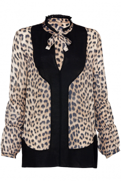 just-cavalli-collar-detail-animal-print-shirt-multicolor