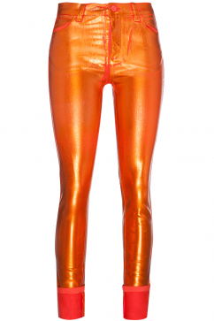 mm6-maison-martin-margiela-5-pocket-shiny-pants-metalik-turuncu