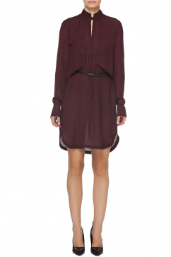 halston-heritage-ls-double-layer-elbise-bordo