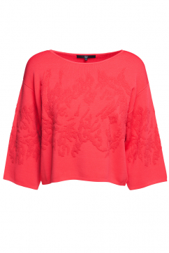 tibi-knitted-cropped-pullover-red