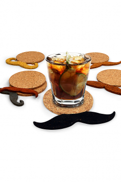 kikkerland-6-pack-mustache-coasters-multicolor