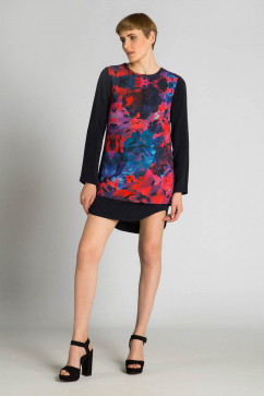 finders-keepers-back-to-basics-long-sleeve-dress-multicolor