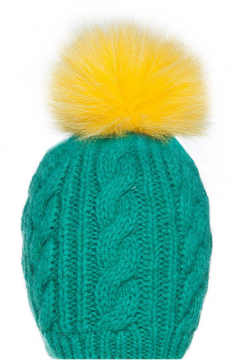 mynita-fur-pom-pom-beanie-light-green-yellow