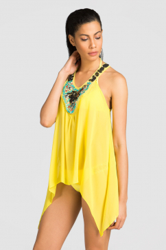 sauvage-swimwear-canary-hand-beaded-tunic-yellow
