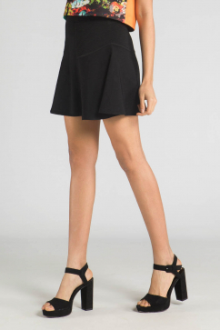 milly-fit-ve-flare-skirt-siyah