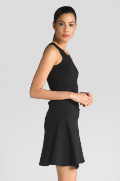 milly-fit-and-flare-stretch-dress-black