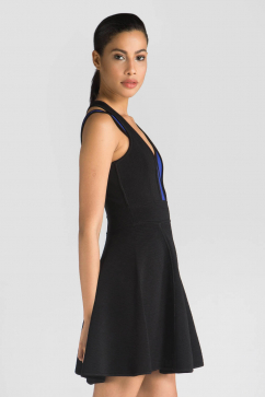 milly-strappy-ottoman-stretch-dress-multicolor